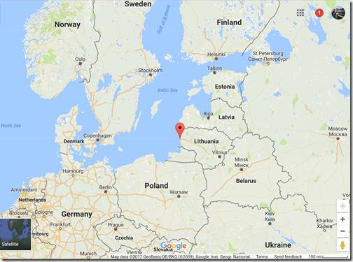 Google Maps Klaipeda