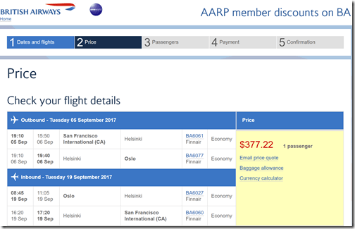 SFO-OSL $377 BA-AARP Sep5-19
