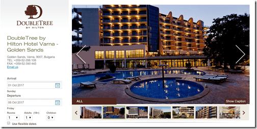 Doubletree Varna homepage
