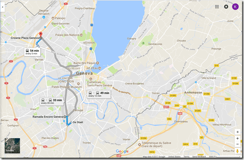 Google Maps Ramada Geneva