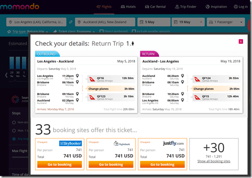 LAX-AKL $741 QF May5-19