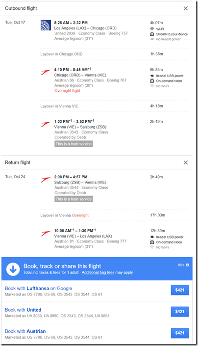 LAX-SZG $421 Google flights