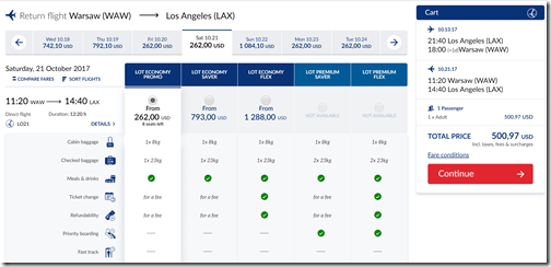 LAX-WAW $501 LOT Oct13-21