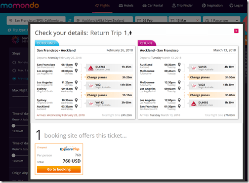 SFO-AKL $760 VA Feb26-Mar13