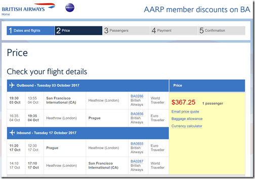 SFO-PRG $367 BA-AARP Oct3-17