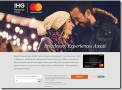 IHG Priceless Experiences 2017-18