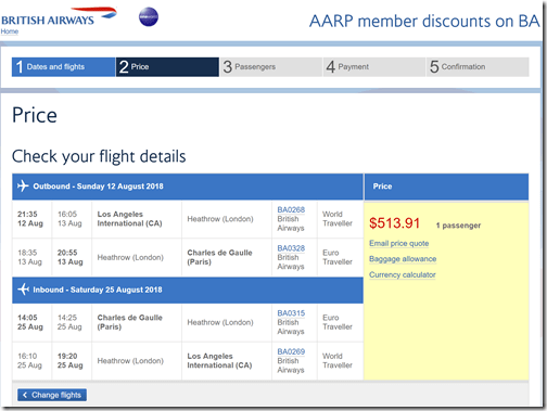 LAX-CDG $514 BA-AARP Aug12-25