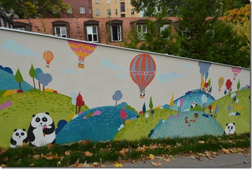 Prague Panda mural