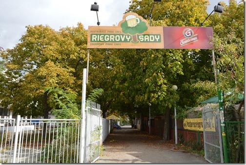 Prague Riegrovy sady beer garden