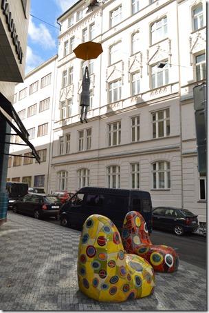 Prague Umbrella woman