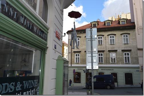 Prague umbrella man