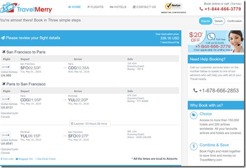 SFO-CDG $339 TravelMerry UA-AC May1-10