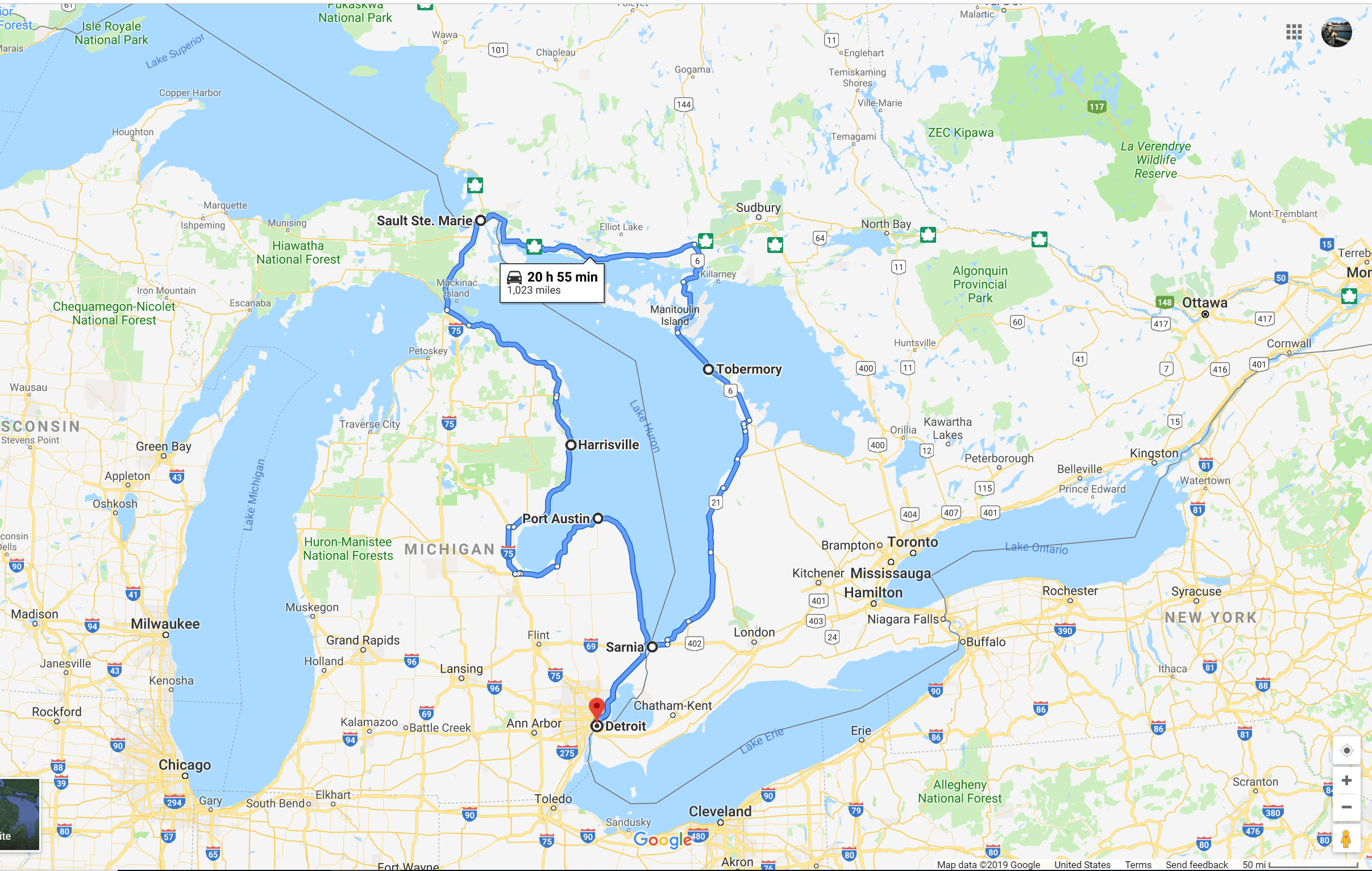 Contemplating 5 Great Lakes Road Trips On 5 000 Miles Of