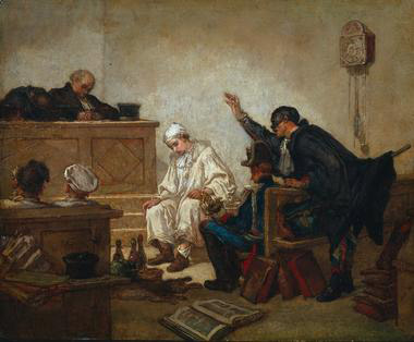 Thomas Couture, 1863, Pierrot in Criminal Court