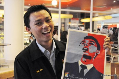 King Chai with his campus election poster