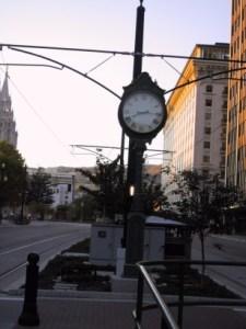 Clock Near Crossroads ZCMI
