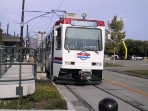 Trax Light Rail train