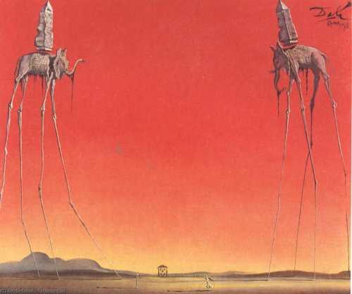 S. Dalì, Elefanti, 1948 (libertà e sicurezza?)