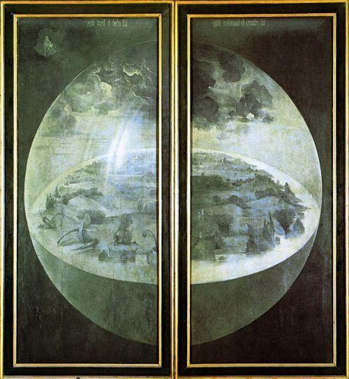 H. Bosch, Trittico del Giardino delle delizie (ante chiuse), 1480-1490