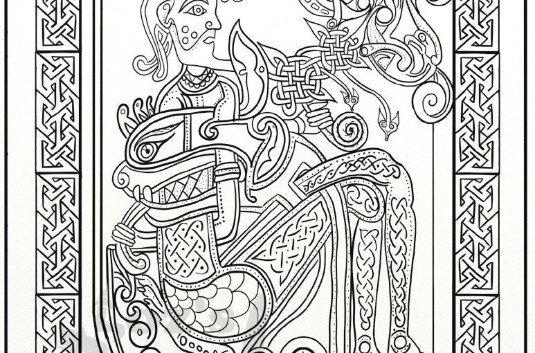 10 More Celtic Knots and Mandala Colouring Pages on Etsy