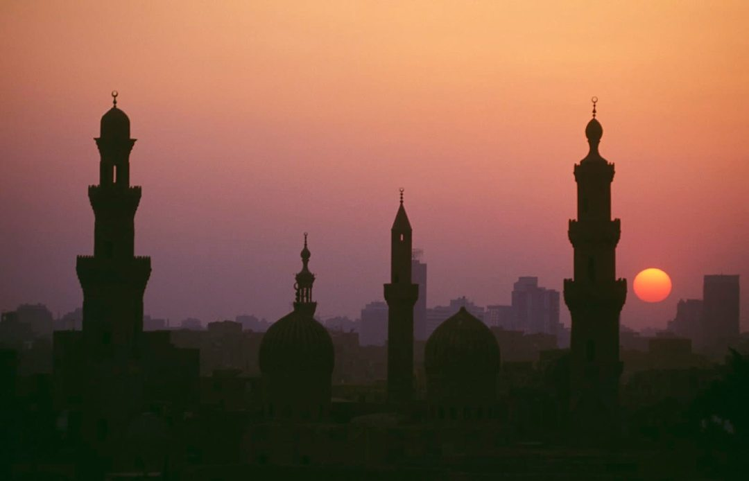 Skyline at sunset, Cairo, Egypt