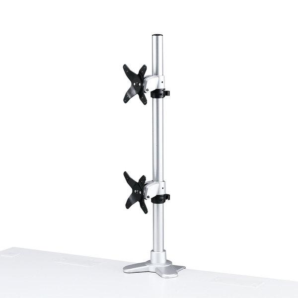 水平垂直液晶モニターアーム(机用・水平垂直・上下2面)商品画像