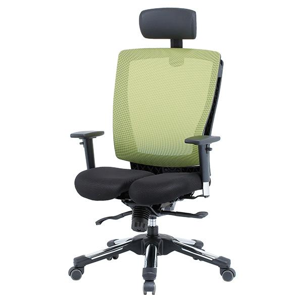 HARA Chair 健康メッシュチェア 上下可動肘付/ヘッドレスト付 グリーン商品画像