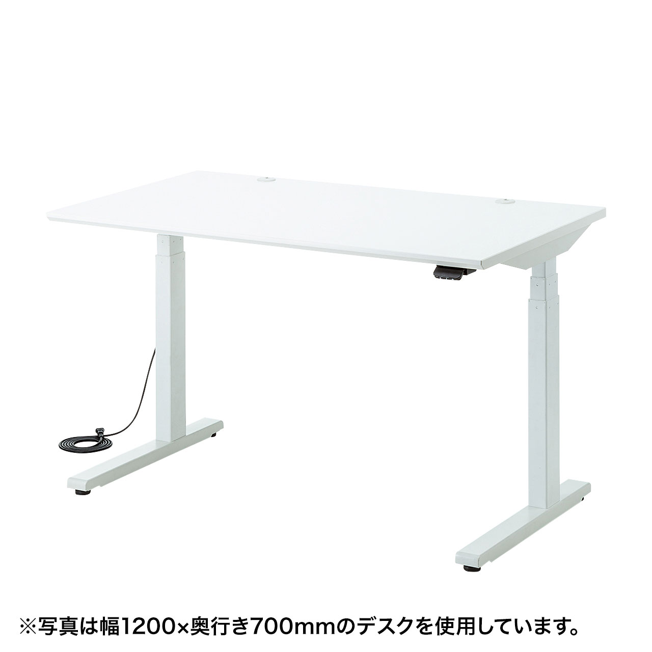 電動上下昇降デスク(W1000×D800mm・ホワイト)商品画像