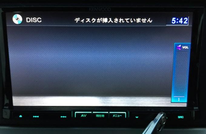 MDV-737DT 音量0問題解決!