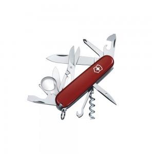 1_6703 lp affutages couteau suisse victorinox explorer rouge 12 pièces 17 fonctions manche 91 mm