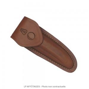 5212 LPAFFUTAGES étui cuir marron avec passant permettant le port horizontal transversal ou vertical pour Laguiole de 12 cm de manche