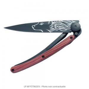 1GB100_2 lp affutages Deejo Black Tattoo Loup manche bois de rose