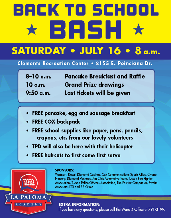 Back to School Bash | La Paloma Academy: Central | Tucson