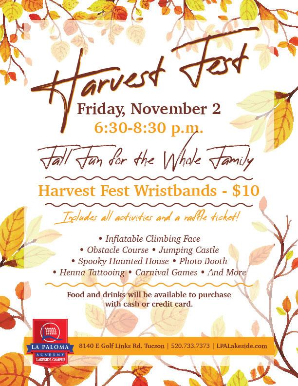 Harvest Fest   La Paloma Lakeside Tucson Charter School
