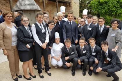 Les élèves d'hôtellerie au service de l'Elysée