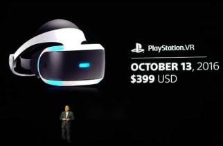 PlayStation VR將於10/13上市 年底前將有50款對應遊戲