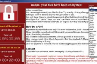 Windows用戶注意!防堵WanaCrypt0r 2.0勒索病毒,請盡速安裝系統更新確保安全