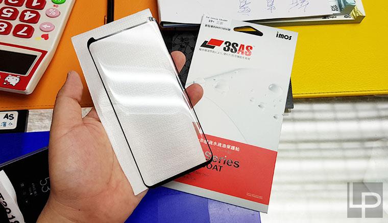 依然碳纖維!午夜黑三星S9+全機卡夢紋包膜,搭配imos 3SAS螢幕保護貼