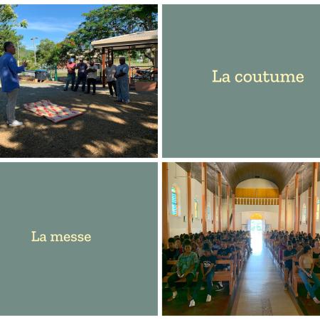 communauté scolaire du LPFA coutume et messe 2020