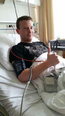 Rocking the LPU shirt in the hospital