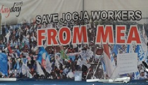 Poster: Save Jogja Worker From MEA