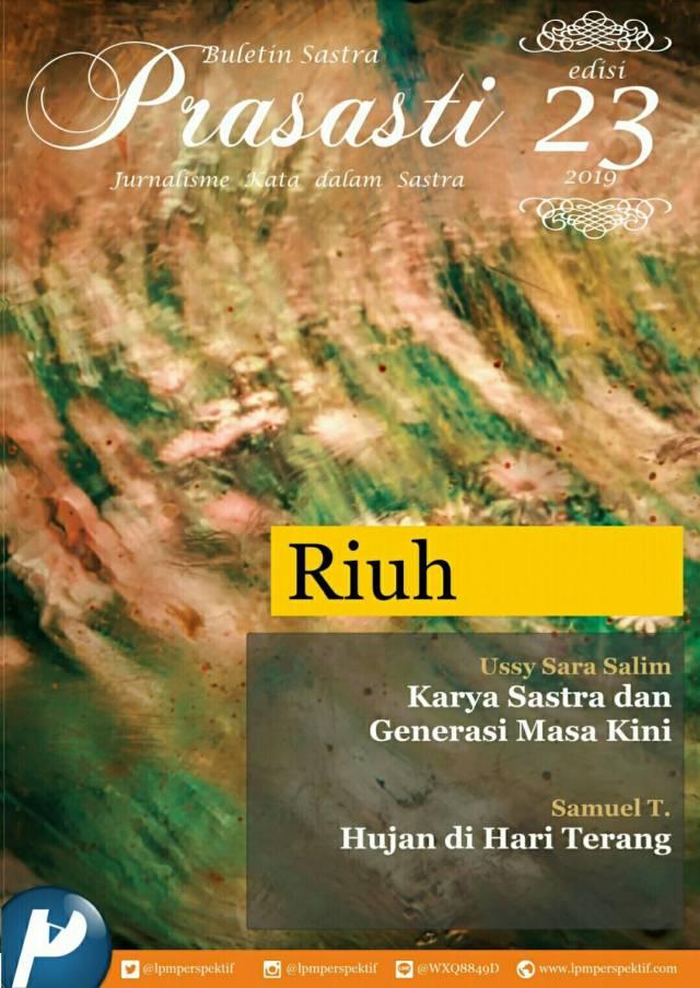 Book Cover: Buletin Prasasti Edisi 23 : Riuh
