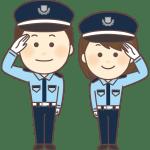 警備員服姿の男女
