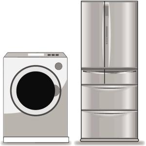 冷蔵庫、洗濯乾燥機