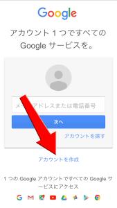 GmailのTOPページ