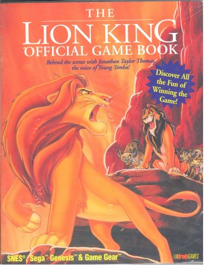Lion KIing Official Game Book Sega Genesis & Game Gear