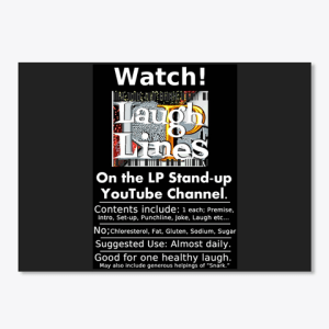 LP Laugh Lines Sticker