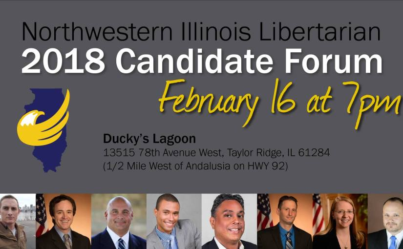 2018 Candidate Forum February 16, 7pm at Ducky's Lagoon