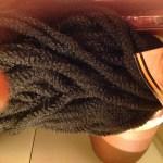 faux bun hairstyle marley hair