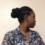 faux bun hairstyle